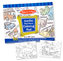 Melissa and Doug Jumbo Coloring Pad , Blue