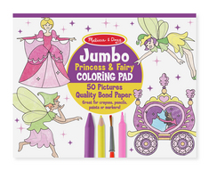 Jumbo Coloring Pad, Princess