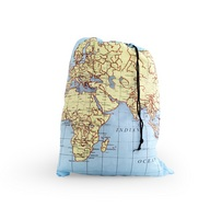Kikkerland MAPS TRAVEL LAUNDRY BAG