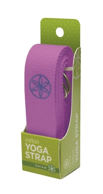 Cotton Yoga Strap (Purple)