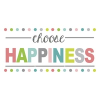 Choose Happiness Wall Words