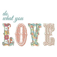 Do What You Love Wall Words
