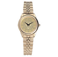 Georgia Tech Womens Wristwatch with Gold Rolled Link Bracelet