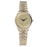 Womens Wristwatch with Gold Rolled Link Bracelet