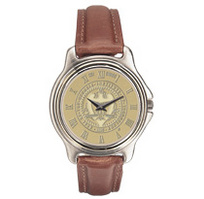 Georgia Tech Mens Wristwatch with Leather Strap