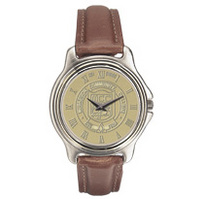 Wristwatch with gold face and Logo
