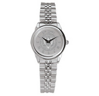 Georgia Tech Womens Wristwatch with Stainless Steel Rolled Link Bracelet
