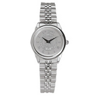 Womens wristwatch with stainless steel rolled link bracelet