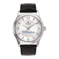 Men Silver Round WatchBulova
