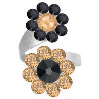 Double Daizie Adjustable Ring