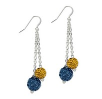 School Color Bling Fashion Bead Earrings