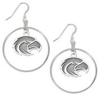 Southern Mississippi Eagles Legacy Charm Hoop Earrings