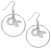 Georgia Tech Legacy Charm Hoop Earrings