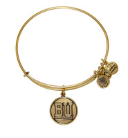 Alex and Ani Boston University Logo Charm Bangle