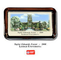 Lehigh Color Glass Paperweight