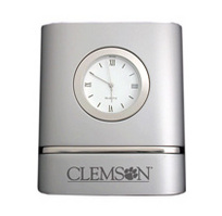 Clemson Tigers Two Tone Desk Clock