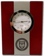 University of Chicago Wood and Metal Desk Clock