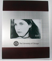 University of Chicago Cherry Wood and Metal Frame