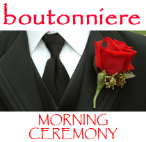 Morning Grad Men Rose Boutonniere