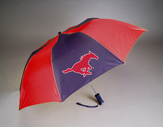 SMU Mustangs Automatic Folding Umbrella