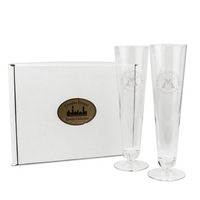 Set of Two 17 OZ Titanium  Pilsner Glasses