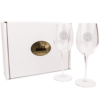 Set of Two 12 OZ Titanium Wine Glasses