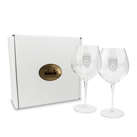 Set of Two 22 OZ Titanium Robusto Wine  Glasses