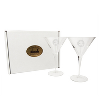 Set of Two Titanium Martini Glasses