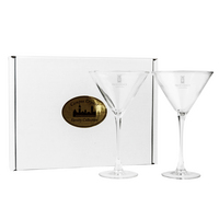 Set of 2 Martini Glass  10 oz  USA Made (Online Only)