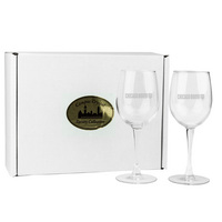 Set of 2 White Wine Glass  12 oz USA Made (Online Only)