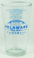 Delaware Blue Hens Glass Mixer