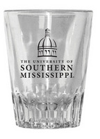 Southern Mississippi Eagles Fluted Shot Glass