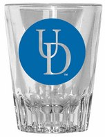 Delaware Blue Hens Fluted Shot Glass