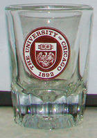 University of Chicago Fluted Shot Glass