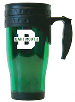 Dartmouth Big Green Acrylic Travel Mug with Handle
