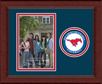 SMU Mustangs Churchill Classics Vertical Logo Photo Frame