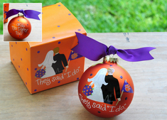 Clemson Bride and Groom Ornament
