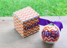 Clemson Chevron Ornament