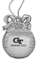 Georgia Tech Bulb Shaped Ornament