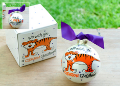 Clemson We Wish You Ornament