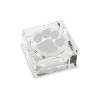 Box  Square Shaped Optic Crystal Lidded Style (Online Only)