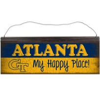 Vintage Tin Sign Happy Place