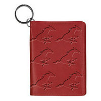 SMU Mustangs Carolina Sewn Leather ID Holder