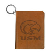 Southern Mississippi Eagles Carolina Sewn Leather ID Holder