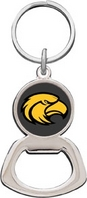 Southern Mississippi Eagles Silver Tone Bottle Opener Keychain