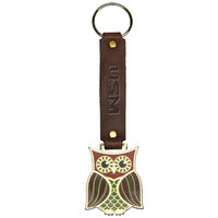 Animal Key Tags with leather strap