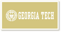 Georgia Tech Horizontal Logo Banner from Collegiate Pacific