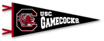 South Carolina Gamecocks Multi Color Logo Pennant from Collegiate Pacific