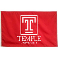 Temple Embroidered/Appliqued Flag