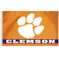 Clemson Tigers Embroidered/Appliqued Flag